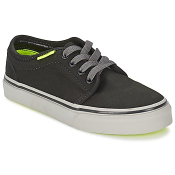 kengät Lapset Matalavartiset tennarit Vans 106 VULCANIZED Black / Grey / Yellow