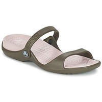 kengät Naiset Sandaalit ja avokkaat Crocs Cleo CHOCOLATE / Cotton / Candy