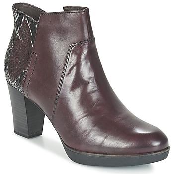 kengät Naiset Nilkkurit Tamaris VICHA Bordeaux