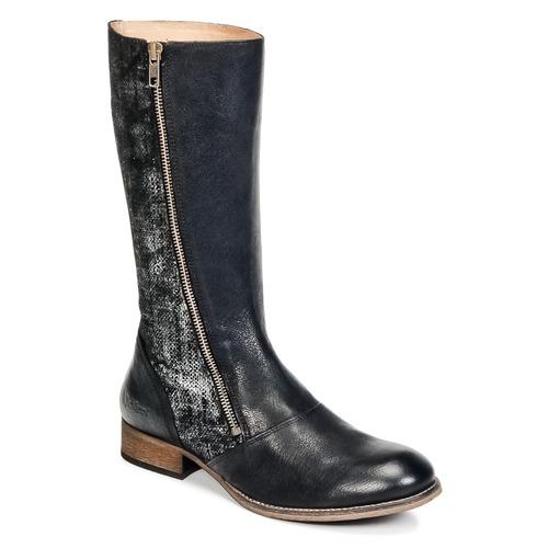 kengät Naiset Saappaat Kickers PENNYHO Black / Brillant