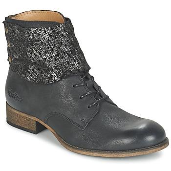 kengät Naiset Bootsit Kickers PUNKYZIP Black / Brillant