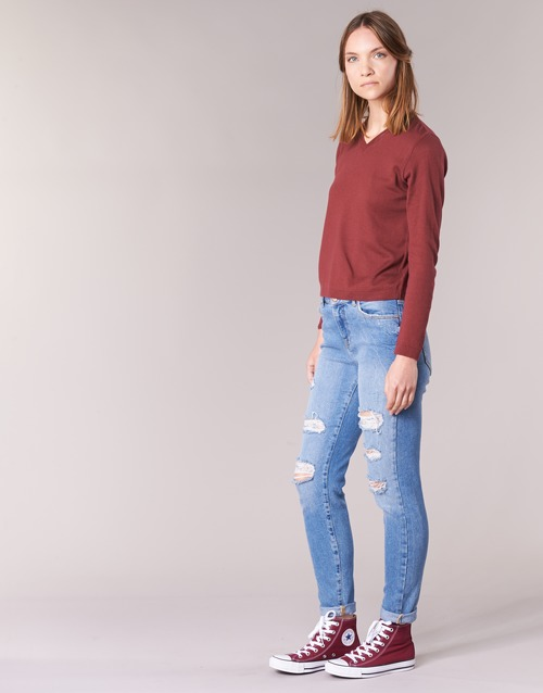 Botd Ecorta Vey Bordeaux - Ilmainen Toimitus- Vaatteet Neulepusero Naiset 18