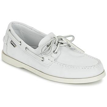 kengät Miehet Mokkasiinit Sebago DOCKSIDES White