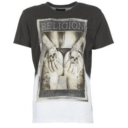 vaatteet Miehet Lyhythihainen t-paita Religion GRABBING White / Black