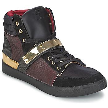 kengät Naiset Korkeavartiset tennarit SuperTrash GOLDY Bordeaux
