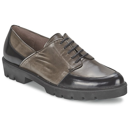 kengät Naiset Derby-kengät Wonders CAMMA Black / Grey