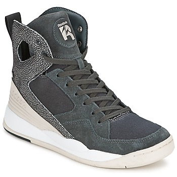kengät Naiset Korkeavartiset tennarit Reebok Classic ALICIA KEYS COURT Grey / White