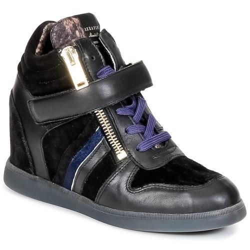 kengät Naiset Korkeavartiset tennarit Serafini LEXINGTON Black
