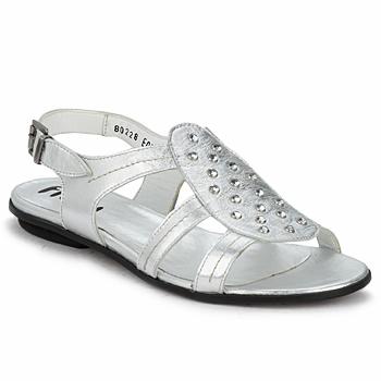 kengät Naiset Sandaalit ja avokkaat Fidji BARRETA Hopea