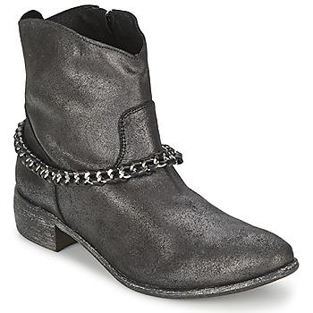 kengät Naiset Bootsit Meline VUTIO Black / Metallinen