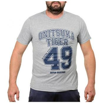 vaatteet Miehet Lyhythihainen t-paita Onitsuka Tiger  Harmaa