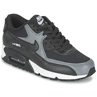 kengät Naiset Matalavartiset tennarit Nike AIR MAX 90 W Black / Grey