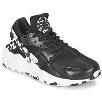 kengät Naiset Matalavartiset tennarit Nike AIR HUARACHE RUN SE W Black / White