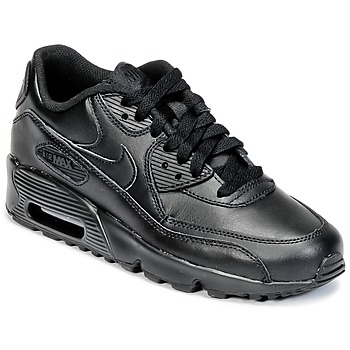 kengät Lapset Matalavartiset tennarit Nike AIR MAX 90 LEATHER GRADE SCHOOL Black