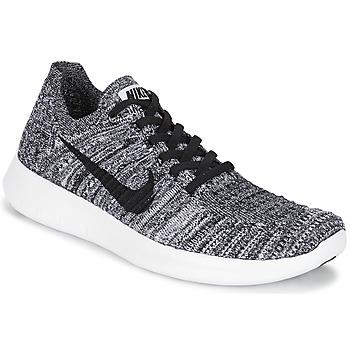 kengät Naiset Juoksukengät / Trail-kengät Nike FREE RUN FLYKNIT W White / Black