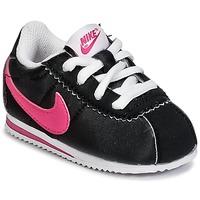 kengät Tytöt Matalavartiset tennarit Nike CORTEZ NYLON TODDLER Black / Pink