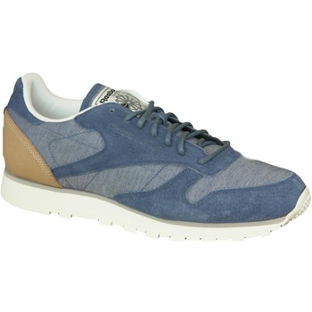 kengät Miehet Matalavartiset tennarit Reebok Sport CL Leather Fleck AQ9722 Blue