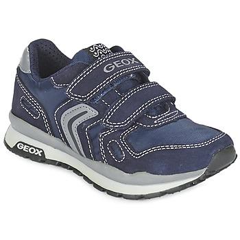 kengät Tytöt Matalavartiset tennarit Geox J PAVEL Blue