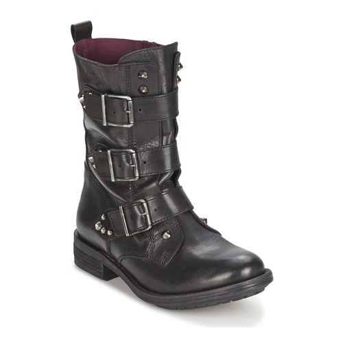 kengät Naiset Bootsit Ikks RANGER-COLLECTOR-BOUCLE Black