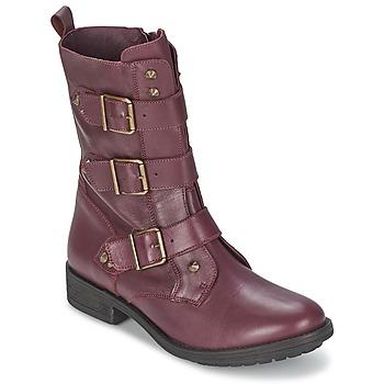 kengät Naiset Bootsit Ikks RANGER-COLLECTOR-BOUCLE Bordeaux