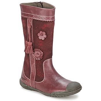kengät Tytöt Saappaat Mod'8 KLAN Viininpunainen