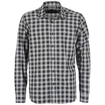 vaatteet Miehet Pitkähihainen paitapusero Yurban FLENOTE Black / White