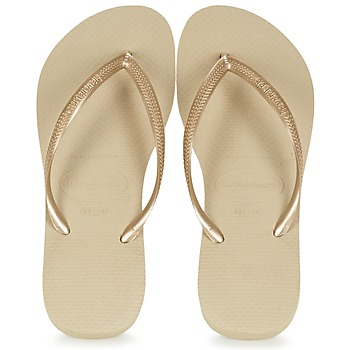 kengät Naiset Varvassandaalit Havaianas SLIM Kulta