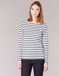 vaatteet Naiset T-paidat pitkillä hihoilla Betty London IFLIGEME Valkoinen / Sininen