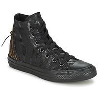 kengät Naiset Korkeavartiset tennarit Converse CT ANIM TRI ZIP Black / Dore