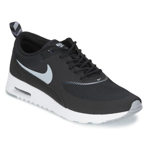 kengät Naiset Matalavartiset tennarit Nike AIR MAX THEA Black / Harmaa-valkoinen