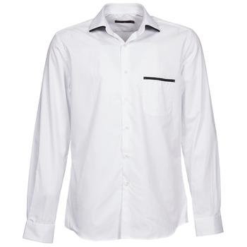 vaatteet Miehet Pitkähihainen paitapusero Pierre Cardin ANTOINE White