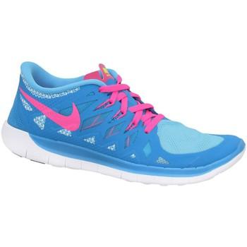 kengät Pojat Matalavartiset tennarit Nike Free 50 GS Vaaleansiniset, Vaaleanpunaiset