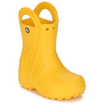 kengät Lapset Kumisaappaat Crocs HANDLE IT RAIN BOOT KIDS Keltainen