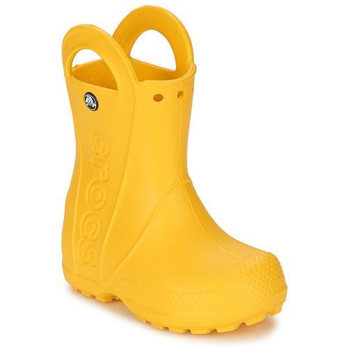kengät Lapset Kumisaappaat Crocs HANDLE IT RAIN BOOT KIDS Yellow