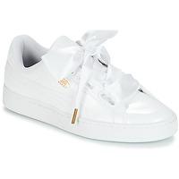 kengät Naiset Matalavartiset tennarit Puma BASKET HEART PATENT WN'S White
