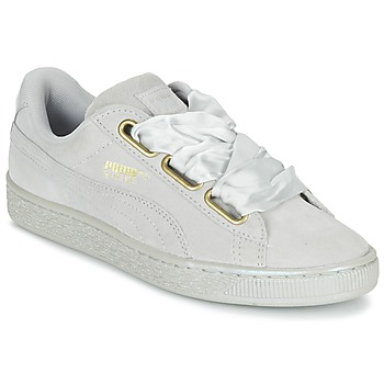 kengät Naiset Matalavartiset tennarit Puma BASKET HEART SATIN WN'S Grey