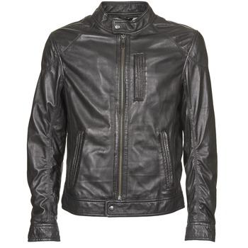 vaatteet Miehet Nahkatakit / Tekonahkatakit Oakwood 60835-501 Musta
