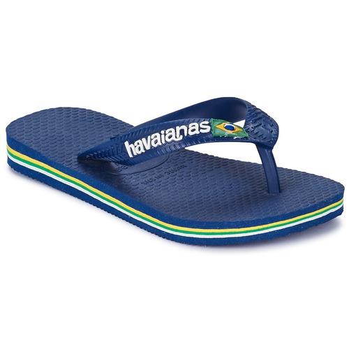 kengät Lapset Varvassandaalit Havaianas BRASIL LOGO Laivastonsininen