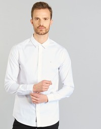 vaatteet Miehet Pitkähihainen paitapusero Calvin Klein Jeans WILBERT White