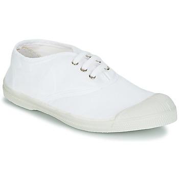 kengät Lapset Matalavartiset tennarit Bensimon TENNIS LACET White