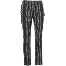 vaatteet Naiset 5-taskuiset housut Manoush TAILLEUR Grey / Black