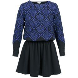vaatteet Naiset Lyhyt mekko Manoush GIRANDOLINE Black / Blue