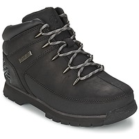 kengät Lapset Bootsit Timberland EURO SPRINT Black / Smooth / Grey