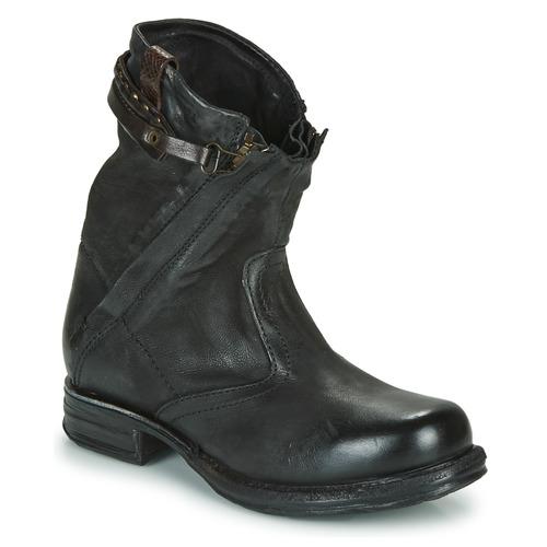 kengät Naiset Bootsit Airstep / A.S.98 SAINT METAL ZIP Musta