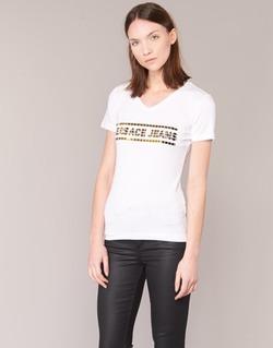 vaatteet Naiset Lyhythihainen t-paita Versace Jeans B2HPA7GC White