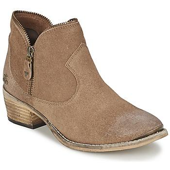 kengät Naiset Bootsit Le Temps des Cerises GRACE Hiekka