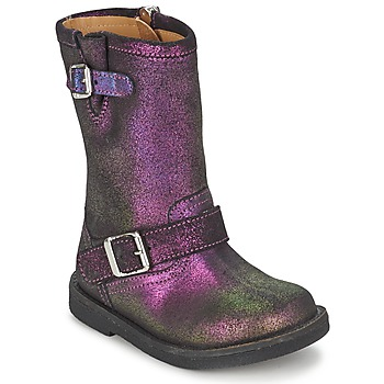 kengät Tytöt Saappaat Pom d'Api HIKE BIKER Violet