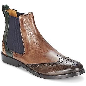 kengät Naiset Bootsit Melvin & Hamilton AMÉLIE 5 Brown / Green / Yellow