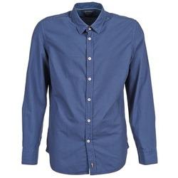vaatteet Miehet Pitkähihainen paitapusero Marc O'Polo CELSUS Blue / Laivastonsininen / Red
