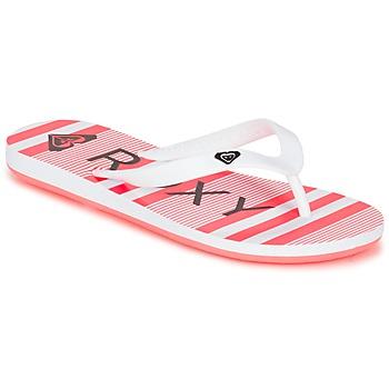 kengät Tytöt Varvassandaalit Roxy RG TAHITI V G SNDL WBD White / Black / Pink